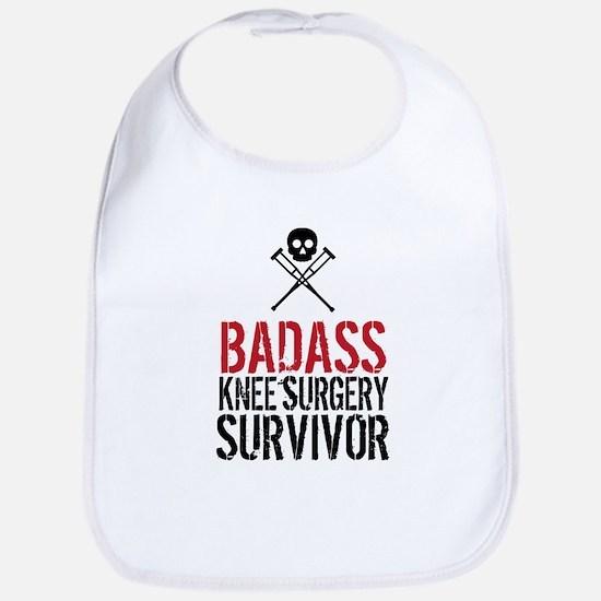 Badass Knee Surgery Survivor Baby Bib