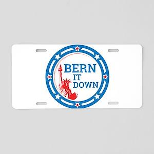 Bern it Down Aluminum License Plate