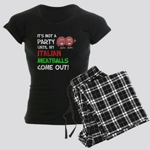 Party Italian Meatballs Shirt Pajamas