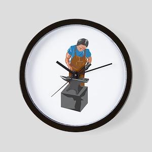 Blacksmith Working Wall Clock