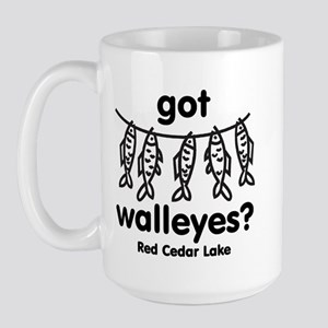 got walleyes? Large Mug