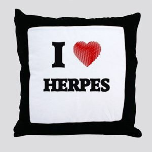 I love Herpes Throw Pillow
