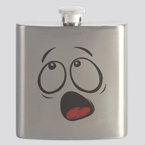 Surprised Yellow Smiley Face Flask