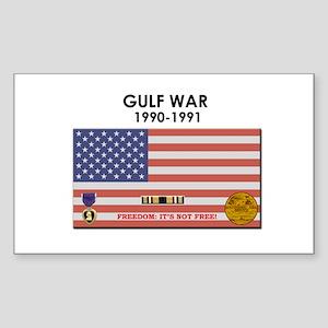 Gulf War Rectangle Sticker