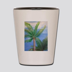 Palms Blowing in the Wind, Key West Shot Glass