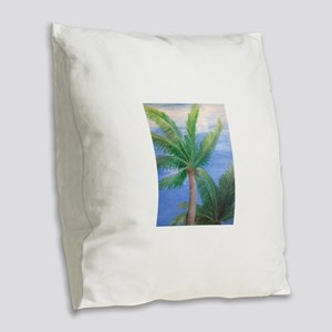 Palms Blowing in the Wind, Key West Burlap Throw P