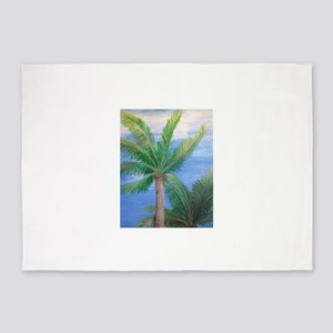 Palms Blowing in the Wind, Key West 5'x7'Area Rug