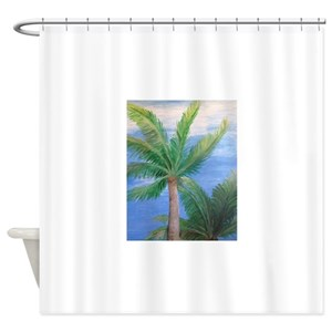 Key West Beach House Shower Curtains