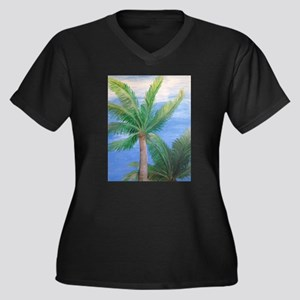 Palms Blowing in the Wind, Key West Plus Size T-Sh