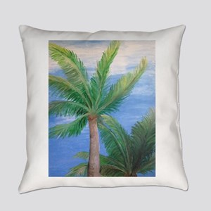 Palms Blowing in the Wind, Key West Everyday Pillo
