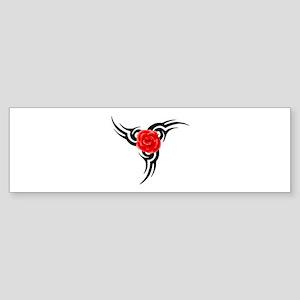 Tribal tattoo with rose Bumper Sticker
