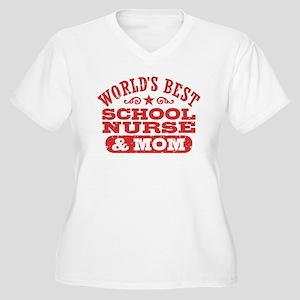 School Nurse And Women's Plus Size V-Neck T-Shirt
