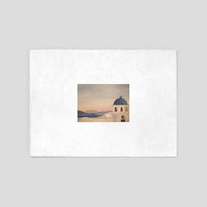 Sunset in Oia, Santorini, Greece 5'x7'Area Rug