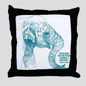 One Can Make a Difference Elephant Sketch Throw Pi