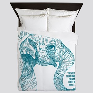 One Can Make A Difference Elephant Queen Duvet