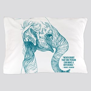 One Can Make a Difference Elephant Sketch Pillow C