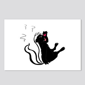 Skunk Stinky eating Postcards (Package of 8)