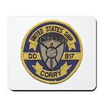 USS CORRY Mousepad