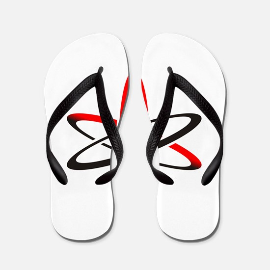 Atom of Atheism Remixed Flip Flops