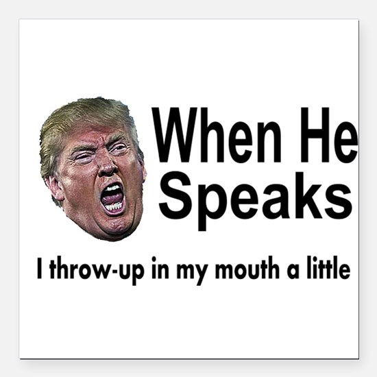 "when the Don Speaks Square Car Magnet 3"" x 3"""