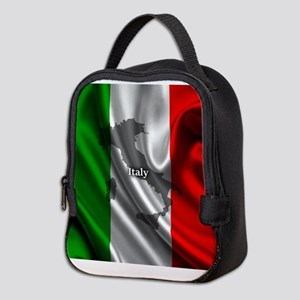 Flag of Italy Neoprene Lunch Bag
