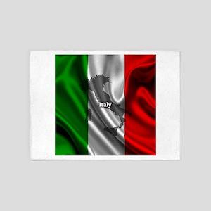 Flag of Italy 5'x7'Area Rug