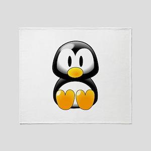 Baby Tux Throw Blanket