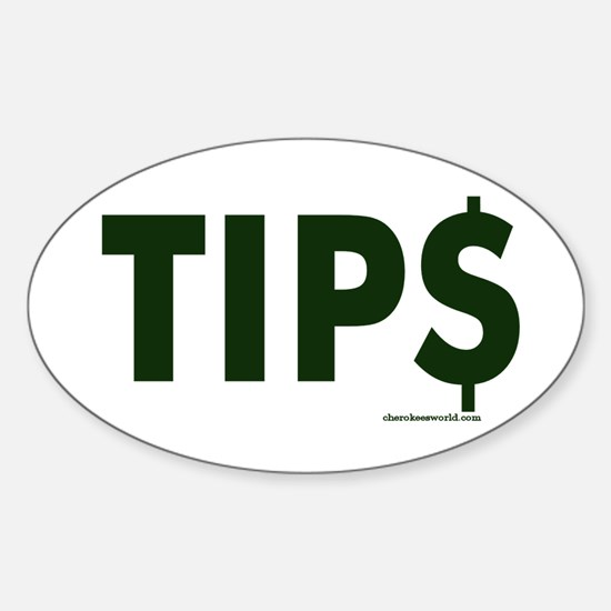 Tip Jar Oval Decal
