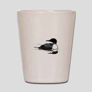 Common Loon Shot Glass