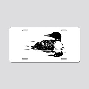 Common Loon Aluminum License Plate
