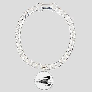 Common Loon Charm Bracelet, One Charm