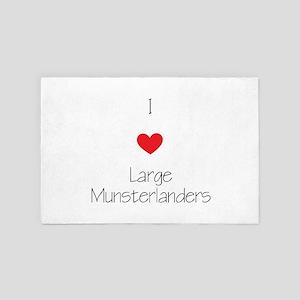 I Love Large Munsterlanders 4' X 6' Rug