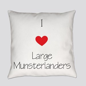 I love Large Munsterlanders Everyday Pillow