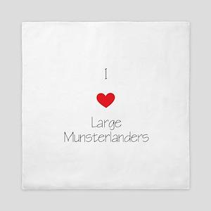 I love Large Munsterlanders Queen Duvet