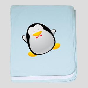 Penguin cartoon baby blanket