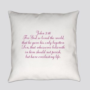 John 3:16 Everyday Pillow