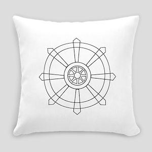 Dharma wheel Everyday Pillow
