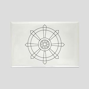 Dharma wheel Magnets