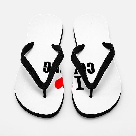 I Love Curling Flip Flops