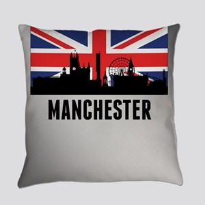 Manchester British Flag Everyday Pillow