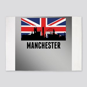 Manchester British Flag 5'x7'Area Rug