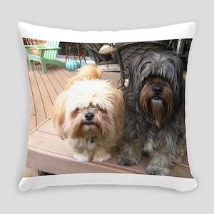 dark and light dog Everyday Pillow