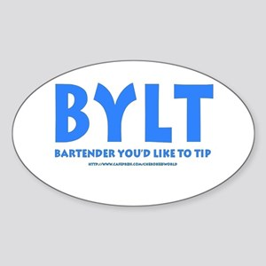 BYLT Tip Jar Oval Sticker