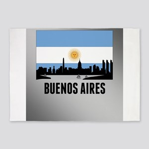 Buenos Aires Argentinian Flag 5'x7'Area Rug