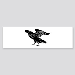 Black Crow Bumper Sticker