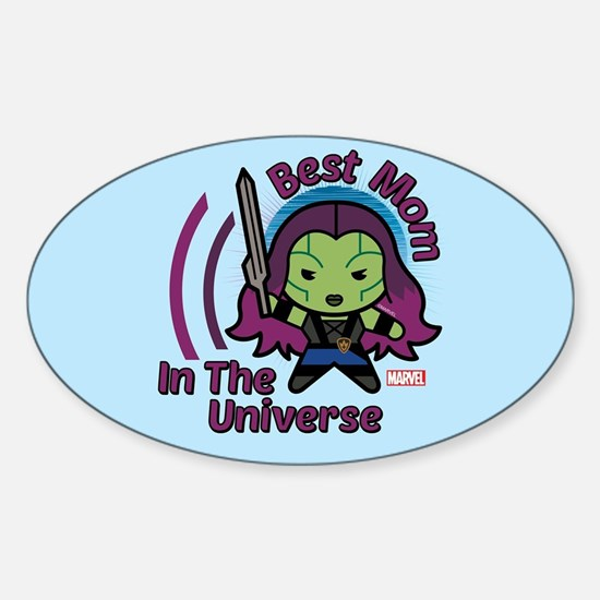 GOTG Best Mom Universe Sticker (Oval)