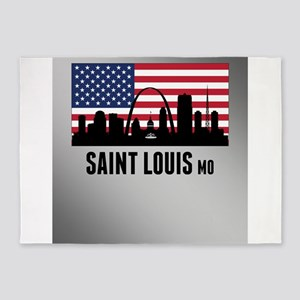 Saint Louis MO American Flag 5'x7'Area Rug