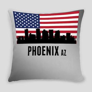 Phoenix AZ American Flag Everyday Pillow