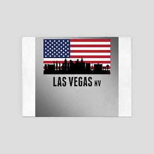Las Vegas NV American Flag 5'x7'Area Rug