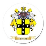 Rossall Round Car Magnet